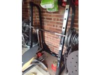 6' Olympic bar and Olympic trigrip metal plates - 100kg total **PRICE REDUCED BY £15**