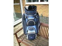 Cart Golf Bag with Motor Caddy Style Trolley Base Fitting Excellent Condition