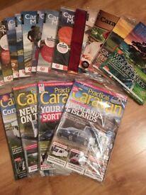 13 CARAVAN & MOTORHOME CLUB MAGS + 4 PRACTICAL CARAVAN MAGS