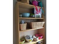 Wooden shelves shelving unit
