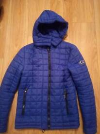 Blue superdry coat size small