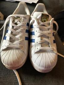 Adidas superstar junior trainers size 5.5 worn twice as new