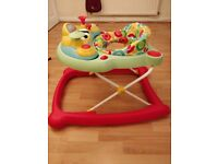 Mothercare Baby walker with electronic musical tray.