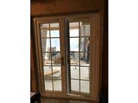 White double Glazed PVC Patio doors (H208cm x W 154cm)
