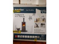 New unopened BabyDan Configure XL Flex white hearth gate for fireplace, bookcase, or other