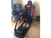 GT Omega Wheel Stand with adjustable GT Omega racinng seat