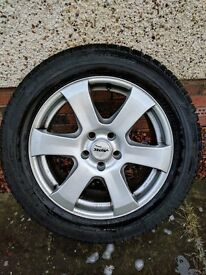 "Set S Class winter wheels and tyres, 4x17"" Dunlop SP Winter Sport 3D complete with Autec alloys"