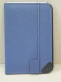 Amazon Blue Textured Leather Lighted Cover Case for Kindle Keyboard Model D00901