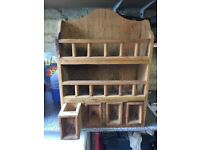 Solid wood pine wall unit