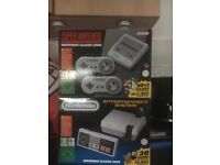 SNES and NES CLASSICS LIKE NEW BOXED