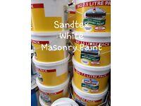 7.5 ltr SANDTEX MASONARY PAINT PURE BRILLIANT WHITE £25