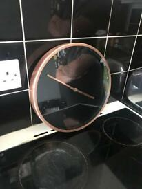 Copper kitchen clock
