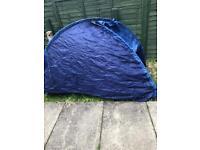 2 man blue tent