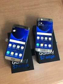 Brand new boxed Samsung galaxy S7 edge gold 32gb unlocked