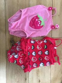 Baby girls swimsuits 6-9