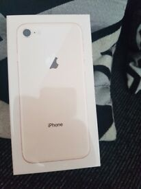 Iphone 8 rose gold (sealed)