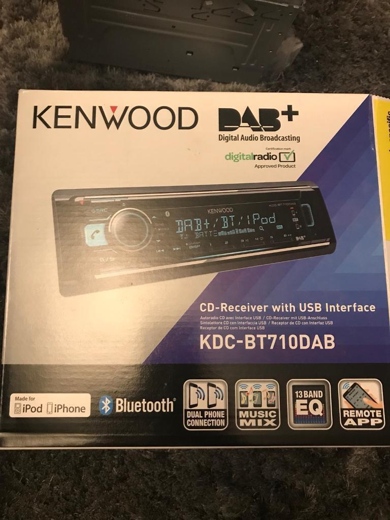 Kenwood car cd / dab / usb / Bluetooth player