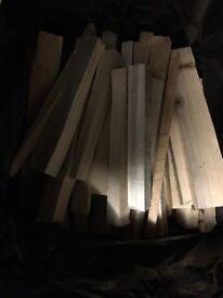 Bags of Kindling Wood