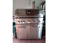 Homsteel Signateur 5 Burner 304 Grade Stainless Steel Gas BBQ Grill + Side Burner + Cover