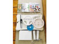 Wii Console + Fit Balance Board, 2 controllers, Mutiple Games, Accessories & All Cables