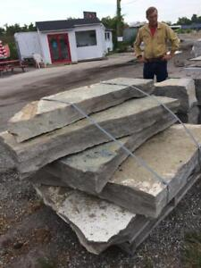 Natural stone edging, steps and pavers to accent the beauty of your landscape. Pick up in Barrie, we are open 7 days/wk.