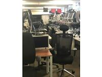 From £10 upwards, Mesh chair, white desk, lockable storage, office furniture