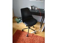 Height Adjustable Black Office Chair
