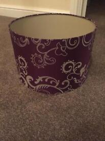 Purple lamp shade brand new