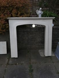 Marble fire place and hearth