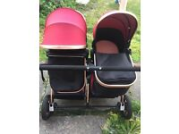 Selling my gorgeous double pram suitable from birth i