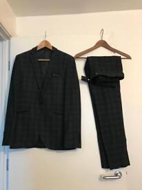 Moss London men's tweed suit