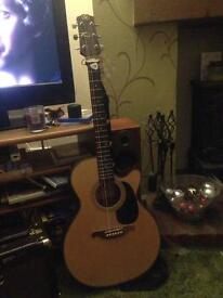Sx custom acoustic guitar with amp
