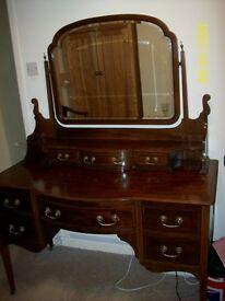 Large Antique Mahogany Dressing Table