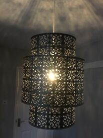 Moroccan metal lampshades x2
