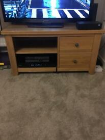 Solid oak tv unit (Sold)