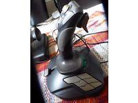 HOTAS for Flight Sims - CH Pro Throttle + Thrustmaster T.16000M Joystick