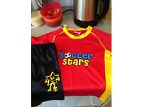 Tiny soccer stars kit age 3-4 nearly new