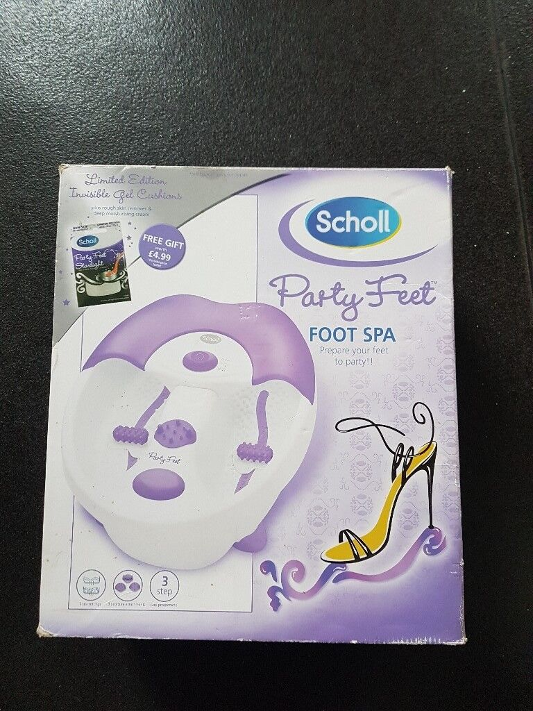Scholl party feet foot spa