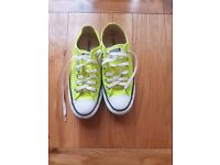 Mens Women CONVERSE All Star Trainers CHUCK NEON VOLT GREEN SIZE UK 4.5 / 37 EURO
