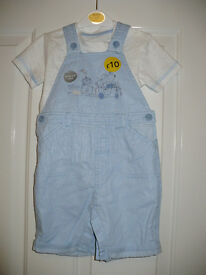 Brand new 2-pieces summer outfit for boy 12-18 mths, trousers and top. Cotton.