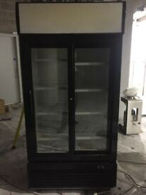 Double Door Display Fridge / Upright Cooler