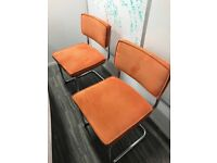 Five Orange Cord Dining/Meeting Room Chairs (Habitat) Collect City of London b4 26th Jan