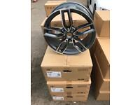 "Set of 4 18"" alloy wheels alloy rims tyre tyres 112 audi seat Skoda Vw Volkswagen"