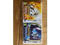 4 Pokemon games 2 x 3dsxl
