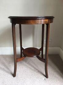Circular dark wood occasional table circa 1900