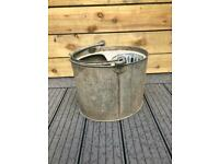 Vintage Galvanised Mop Bucket - ideal planter