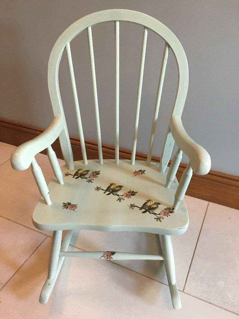 Hand Painted Furniture Mini Kids Rocking Chair Painted