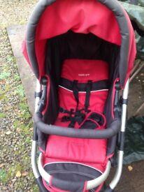 Red kiddicare pushchair