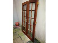 Hardwood Double Doors With Bevelled Glass