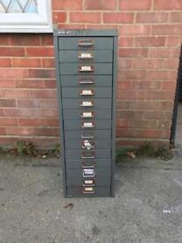 Bisley multi draw, filing cabinet